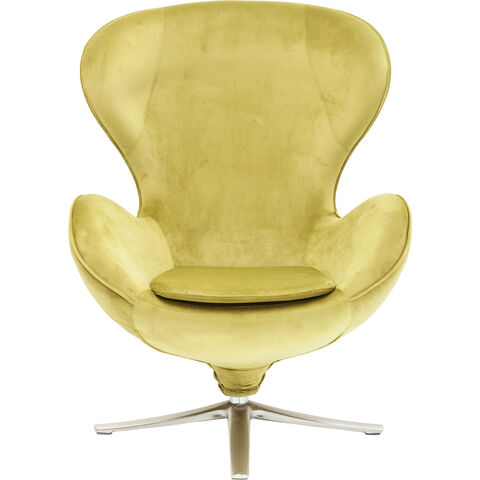 Swivel Chair Lounge Velvet Green