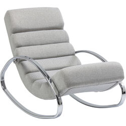 Rocking Chair Manhattan Fabric Grey Beige