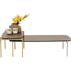 Coffee Table Miami Gardens Walnut (2/Set)