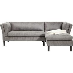 Corner Sofa Canapee Vintage Grau