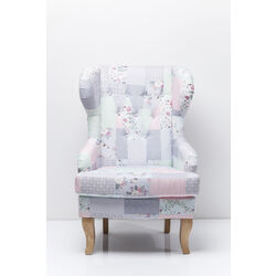Wing Chair Patchwork Powder