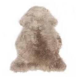 Piel cordero Zenzi 95 cm plata cuarzo