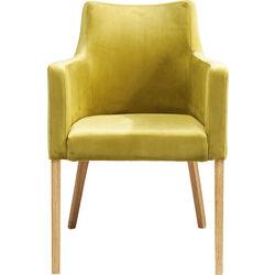 Sedia con braccioli Mode velluto verde