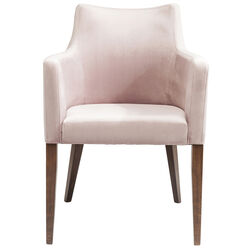 Chair with Armrest Mode Velvet Mauve