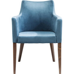 Chair with Armrest Mode Velvet Bluegreen
