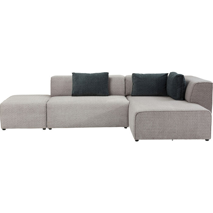 Sofa infinity soft ottomane grey right kare design for Sofa ottomane