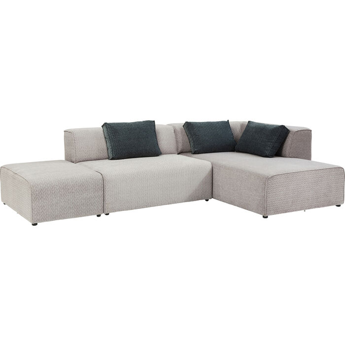 sofa infinity soft ottomane grey right kare design. Black Bedroom Furniture Sets. Home Design Ideas