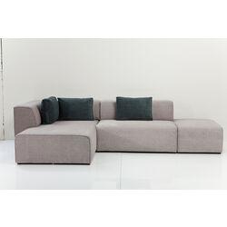 Sofa Infinity Soft Ottomane Grey Left