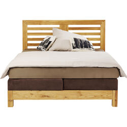 Attento Bed Boxspring Step Braun 140x200cm
