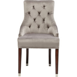Chair with Armrests Prince Velvet Grey