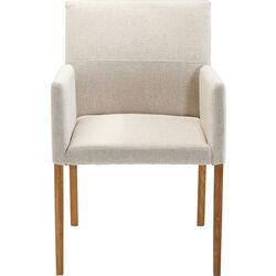 Chair with Armrest Mira Ecru