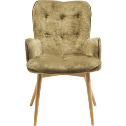 Chair with Armrest Angel Wings Olive Green