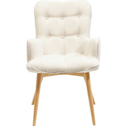 Chair with Armrest Angel Wings Ecru