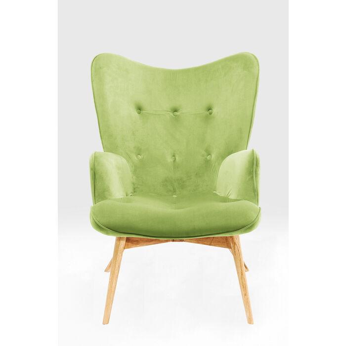 Sessel Vicky Velvet Green Kare Design