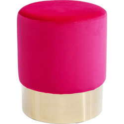 Stool Cherry Pink Brass  Ø35cm