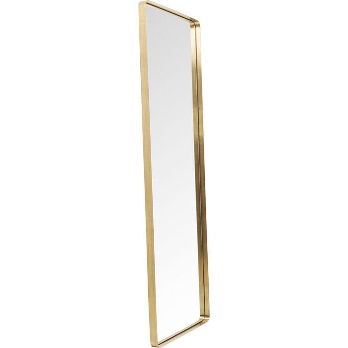 Miroir curve rectangulaire laiton 200x70cm kare design for Miroir laiton