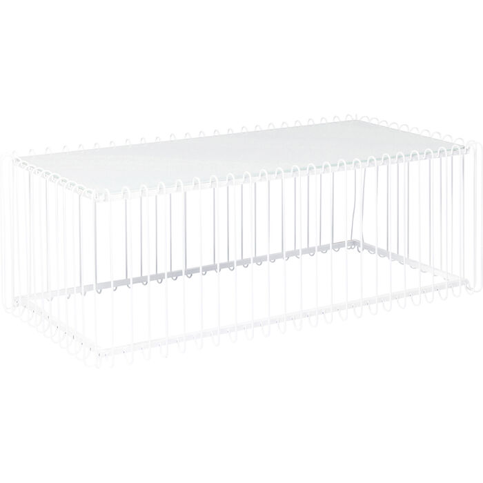 table basse wire rectangulaire blanc 115x57cm kare design. Black Bedroom Furniture Sets. Home Design Ideas