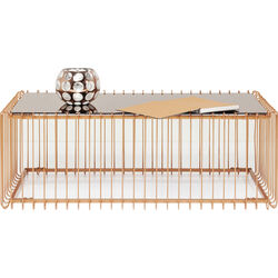 Coffee Table Wire Rectangular Copper 115x57cm