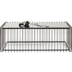 Coffee Table Wire Rectangular Black 115x57cm