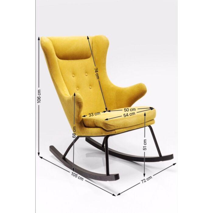 Sedia A Dondolo Fjord Kare Design
