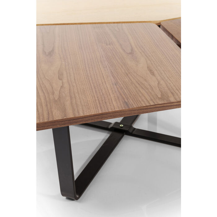Kare Black Coffee Table: Coffee Table Patches Wood 100x100cm