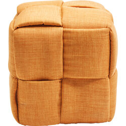 Stool Woven Orange