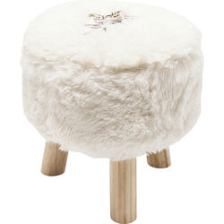 Stool Fur Birds Flower Ø32cm