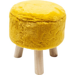 Stool Fur Yellow Ø32cm