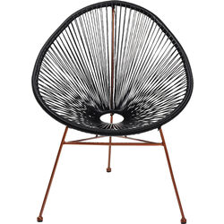 Arm Chair Spaghetti Rosegold Black