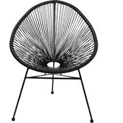Arm Chair Spaghetti Black