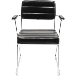Chair with Armrest Dottore Black