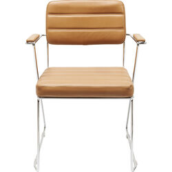 Chair with Armrest Dottore Light Brown