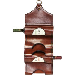 Bottle Rack Saddle Dark Brown