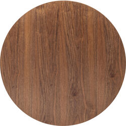 Table Top Invitation Round Walnut Ø90cm