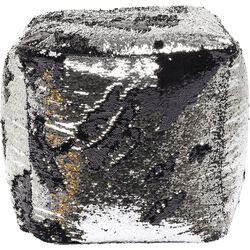 Stool Disco Queen Silver-Black 45x45cm