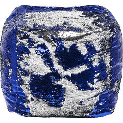 Stool Disco Queen Blue-Silver 45x45cm
