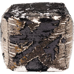Stool Disco Queen Gold-Black 45x45cm