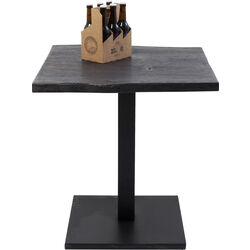 Table Pure Nature Black Central Base 70x70cm
