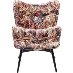 Armchair Black Vicky Tropical Safari
