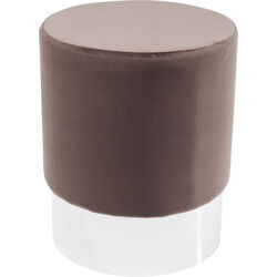 Stool Cherry Brown Silver Ø35cm