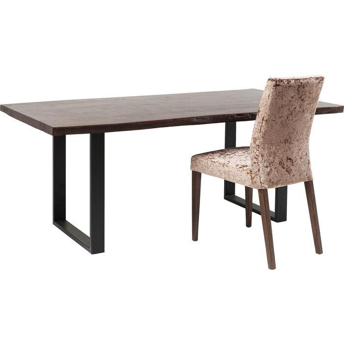 Table Black Nature Walnut 180x90cm Kare Design