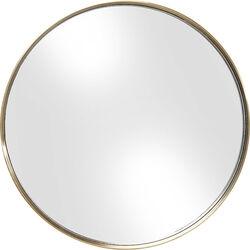 Mirror Curve Round Brass Ø60cm