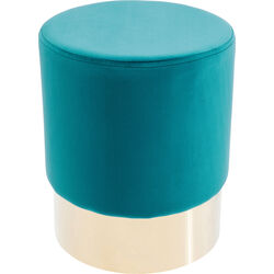 Stool Cherry Bluegreen Brass Ø35cm