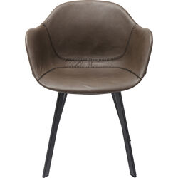 Chair with Armrests Lounge Grey