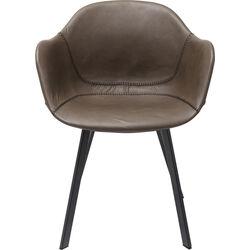 Sedia con braccioli Lounge Grigio