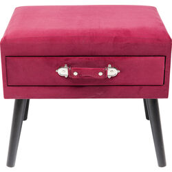 Foot Stool Drawer Red