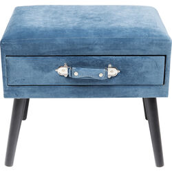 Foot Stool Drawer Blue