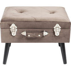 Foot Stool Suitcase Grey