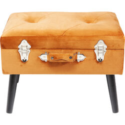 Foot Stool Suitcase Orange