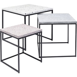 Side Table Terrazzo Square (3/Set) 48x48cm